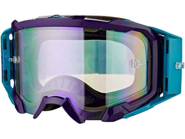 Leatt Velocity 5.5 Iriz Anti Fog Mirror Goggles, aqua/purple